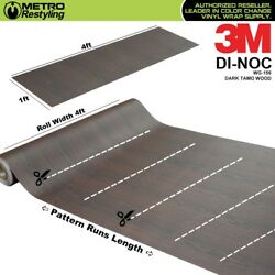 3m Di-noc Dark Tamo Wood Grain Vinyl Wrap Sheet Film Sticker Decal Roll Adhesive