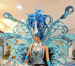 Da NeeNa C058B Victoria Secret Blue Angel Butterfly Wings Headdress XS-XL