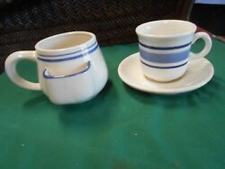 Great Chadwick Miller Ceramic Tea Cup With Tea Bag Holder And Cup And Saucer