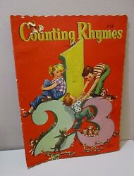 Vtg Counting Rhymes Book Florence Sarah Winship Scottie Fox & Boston Terrier Dog