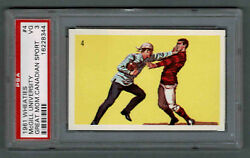 1961 Wheaties Great Moments 4 Mcgill Introduces Football To The Usa Psa 3