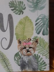 Yorkie Yorkshire Terrier original hand painted  wall art canvas just lovely dog