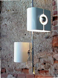 Stilux Italy Production Design Years '70 Two Point Light Ceiling Lamp Alluminium