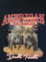 Pit Bulls Double Trouble Size Youth Medium To 6 X Large T Shirt Pick Size