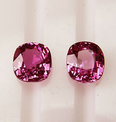 Natural 3.43ct Pink Ceylon Sapphires Matching Pair +certificate Included