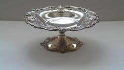 Sterling Silver 10.5 Tazza Compote, Black, Starr And Frost, New York, C. 1890