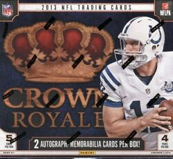 2013 Panini Crown Royale Football Retail 20 Box Case Blowout Cards