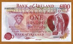 Bank of Ireland Northern 100 pounds ND (1980s) P-68b UNC  Rare