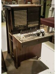 Telephone Switchboard Western? Electric Antique Furniture Display Booth Phone EC