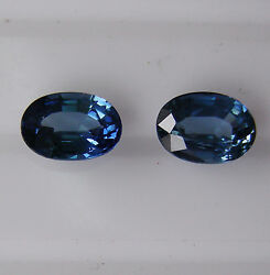 Natural Blue Sapphires 2.32ct Matching Pair Expertly Faceted In Germany +cert