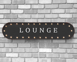 39 Lounge Lobby Hotel Motel Cheers Vintage Rustic Metal Marquee Light Up Sign