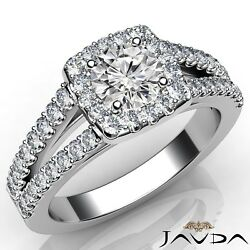 1.9ctw Comfort Fit Round Diamond Engagement Ring GIA F-FL White Gold Women Rings