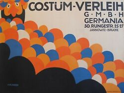 1909 Austrian Art Deco Poster - Costum Verleih (Costume Shop)