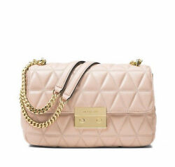NWT Authentic Michael Kors Quilted Sloan Large Chain Shoulder Crossbody Bag