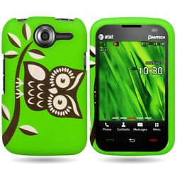 For PANTECH RENUE P6030 Hard Slim Black White Owl Design Snap On Cover Case