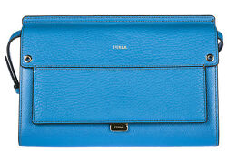 FURLA WOMEN'S LEATHER CROSS-BODY MESSENGER SHOULDER BAG BLUE 652