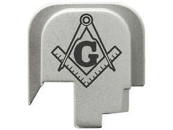 For Smith And Wesson Shield 45 Rear Slide Cover Plate Sil Masonic Square And Compa