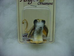 SKYE TERRIER dog ANGEL Ornament HAND PAINTED Resin FIGURINE puppy Christmas