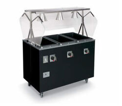 Vollrath T389372 Affordable Portable 46 3 Well Hot Food Station Deluxe