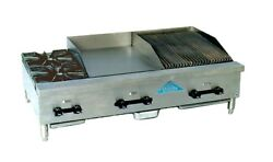 Comstock Castle Fhp60-24-2rb 2 Burner And 24 Broiler And 24 Griddle Combo