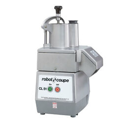 Robot Coupe Cl51 Commercial Vegetable Food Processor 2 Disc And 2 Hoppers