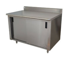 Advance Tabco Ck-ss-246 72wx24d Stainless Steel Cabinet Base W/ Sliding Doors