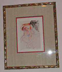 Signed Salvador Dali Divine Purgatory Litho Beautifully Framed - Priced To Sell