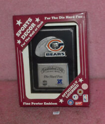 Officially Licensed Die Hard Fan Chicago Bears Wall Plaque.
