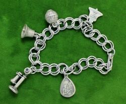 Vintage SwitchBoard Operator Telephone Company Charm Bracelet Sterling Silver