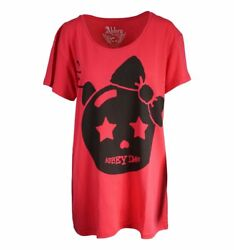 Abbey Dawn Tombstone Oversized Tee Red