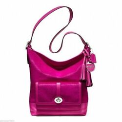 NWT COACH LEGACY FUCHSIA HAIRCALF LARGE DUFFLE BAG LIMITED EDITION! 21158 $1400.