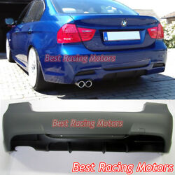 Performance Style Rear Bumper Single Exhaust Fits 06-11 Bmw E90 4dr 325i 328i