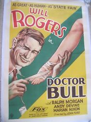 Original 1933 Film Poster - Dr. Bull - Will Rogers - Directed By John Ford