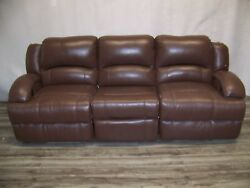Villa Rv 100and039 Home Theater Couch/sofa Genuine Leather With Power Recliners
