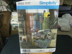 Simplicity 3693 Pillows, Throw, Neckroll, Lamps, Elephant And Sheer Panel Pattern