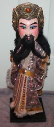 Antique Chinese Asian Opera Doll Wood Hand Puppet Nice Condition