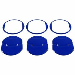 9pcs Air Conditioner Outlet Vent Cover Trim For Ford Mustang 2015-2018(Blue)