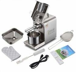 220v Home Stainless Steel Automatic Oil Press Machine Cold Hot Seeds Expeller Uv