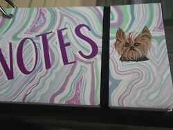 Hand Painted art Yorkshire Terrier YORKIE dog art    beautiful! notes index card