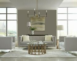 Shimmery Woven Light Gray Grey Sofa And Love Seat Living Room Furniture Set