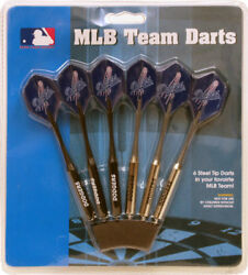 Set Of 6 Mlb Los Angeles Dodgers Darts And Flights With Team Logo