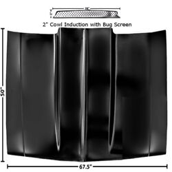 1981 82 83 84 85 86 87 Chevy Pickup Truck 2 Cowl Induction Hood W/ Bug Screen
