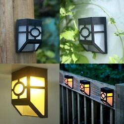 Solar Wall Mount LED Lights for House Wall Outdoor Landscape Garden Fence Lamp