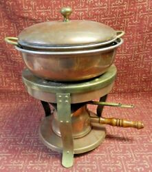 Bazar Francais Cafing Dish 2 Sauce Pans And Lid Burner In France New York 666