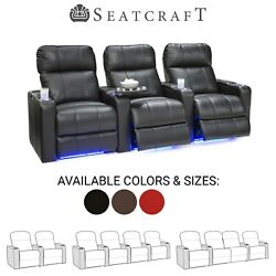Seatcraft Monterey Leather Home Theater Seating Recliners Seat Chair Couch