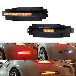 Smoked Lens Sequential Led Turn Signal Backup Brake Lamp For 03-09 Nissan 350z