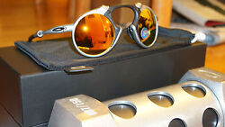 OAKLEY Sunnglasses New MADMAN 87150 X RAWFire Irid Polarized OO6019-01 Limited