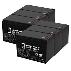 Mighty Max 12v 15ah F2 Battery Replaces Cooper R6000 Floor Rack Unit - 6 Pack