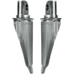 Speed Merchants Raw Race Inspired Knurled Footpeg Set With Shiftpeg Harley Cafe