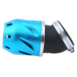 Motorcycle Air Filter Vent Cone Cleaner Pod For 48/49/50mm Engine Inlet Blue